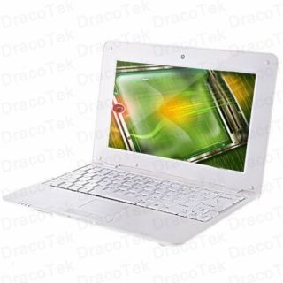 10 White Mini Netbook Laptop WM8850 1 2GHz Android 4 0 WiFi Camera
