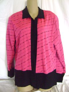 Ming Wang Black Pink XL Jacket