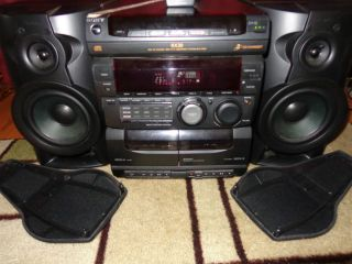 Sony Mini HiFi Stereo Shelf System MHC RX30 3 Disc 60 Watt per channel