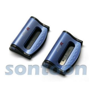 Brand New Pair Blue Mini Car Seatbelt Strap Adjuster Clip