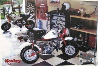 Honda Z50 Monkey Mini Bike Poster