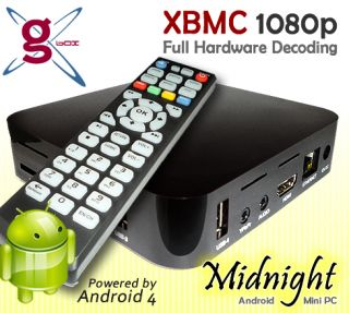 Midnight Android TV Box Full XBMC Android Internet Web Mini PC