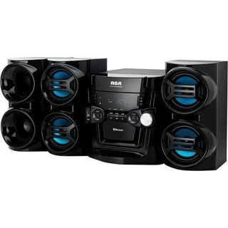 RS3965SB 500 Watt Bluetooth Mini Stereo System 5 CD Changer Radio