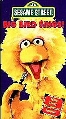 Sesame Street   Big Bird Sings VHS, 1995