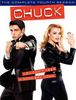 Chuck The Complete Fourth Season DVD, 2011, 5 Disc Set