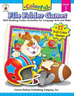 Colorful File Folder Games Skill Building Center Activities for
