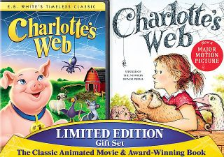 Charlottes Web DVD, 2006, DVD Book Gift Set Checkpoint