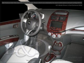 CHEVY SPARK WOOD GRAIN DASH KIT DELUXE 39 PIECES FITS 2013
