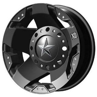 17x6 Black XD XD775 Dually Rear Wheels 8x6.5  94 GMC CK 2500/3500
