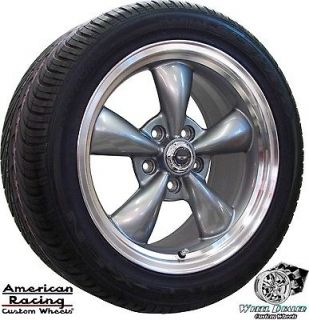 17x9 GRAY AMERICAN RACING TORQ THRUST WHEELS & TIRES PONTIAC FIREBIRD
