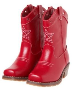 GYMBOREE 4th OF JULY RED STAR COWGIRL BOOTS 9 10 11 12 13 1 2 3 4 NWT