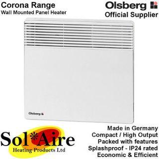 500W Olsberg Corona Electric Panel Heater Wall Mounted Bathroom
