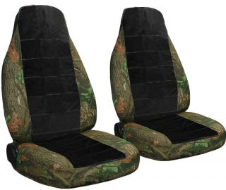 FORD RANGER 60 40 HIGHBACK SEAT camo/black center CAR SEAT COVERS