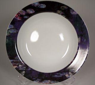 Sakura Claude Monet Water Lilies Rimmed Soup Bowl (s)