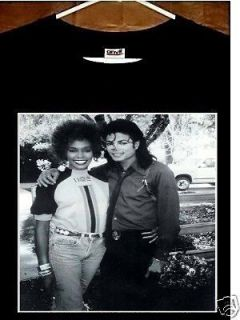 Michael Jackson T Shirt; Whitney Houston with Michael Jackson T Shirt