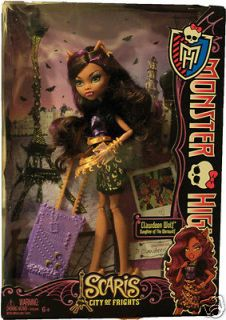 MONSTER HIGH TRAVEL SCARIS CLAWDEEN WOLF DOLL ACTION FIGURE WEREWOLF