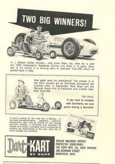 WOW! Vintage & Very Rare 1959 Dart Kart Twin 700 Ad