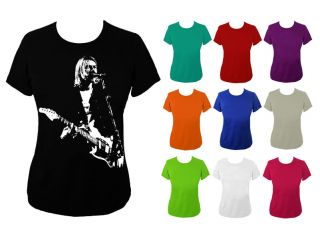 Womens Kurt Cobain Nirvana Rock Icon T shirt UK 6 18