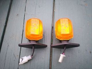 Moped Turn Signal Amber Lenses Front Rear Motorcycle Trailer Scooter