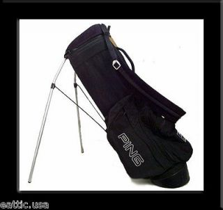 ORIGINAL PING HOOFER GOLF BAG BLACK w/ SAND 6 POCKE NR MIN CUSOM