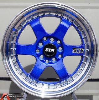 5X114.3 BLUE WHEEL FIT ACURA RSX TSX ILX HONDA CIVIC SI ACCORD CRZ