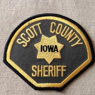 SCOTT COUNTY IOWA SHERIFF PATCH NEW & UNUSED