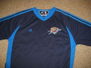 Oklahoma City Thunder Shooting Jersey Youth XL NBA Basketball Adidas