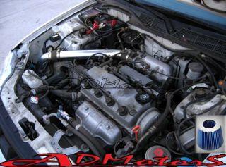 HONDA CIVIC EX HX 1.6L COLD AIR INTAKE 1996 1997 1998 BLUE BLACK (Fits