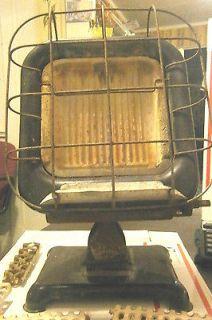 Vintage Humprey Gas Radiant Fire Heater Cast Iron Enameled Metal