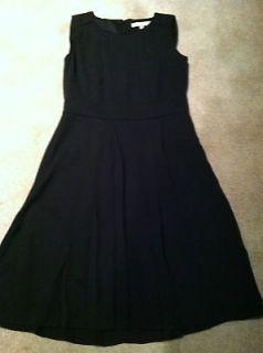 Banana Republic Black Sleeveless Pleated Dress size 10 NWT new