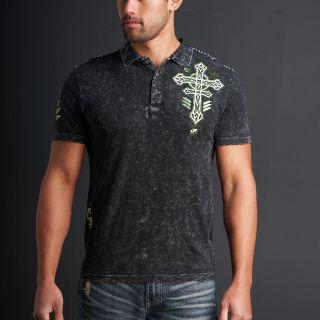 Affliction Tronic Mens Short Sleeve Polo Shirt