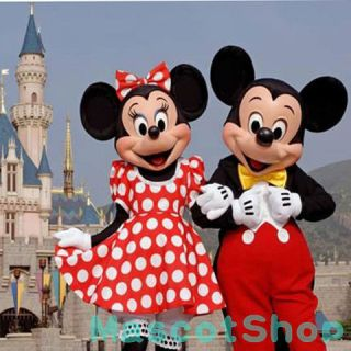 New Adult Suit Size MICKEY MOUSE AND MINNIE MOUSE mascot costume FAN