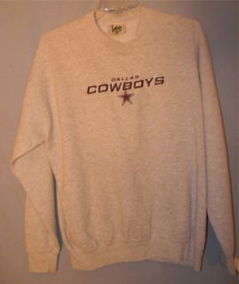 Vtg Lee Sport Dallas Cowboys Gray & Blue Sweatshirt Mens X Large