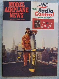 Feb 1970 MODEL AIRPLANE NEWS RC Magazine Super Tigre 15 Diesel Engine
