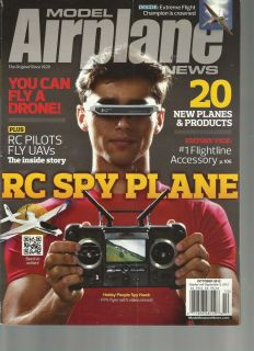 MODEL AIRPLANE NEWS, OCTOBER, 2012 ( YOU CAN FLY A DRONE ! ) RC SPY