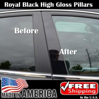 Impala 06 12 Piano Black Pillar Post Car Door Window Parts Trim Kit