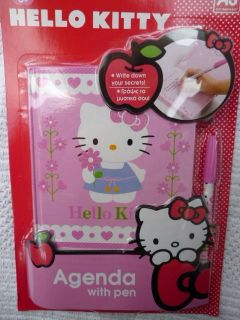 HELLO KITTY Agenda/Diary with pen BNIP