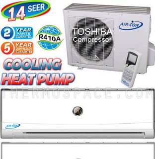 12000 BTU Ductless Air Conditioner, Heat Pump 1 TON Mini Split AC 14