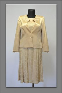 MOTHER OF the BRIDE dress suit golden size 16 22 24 26