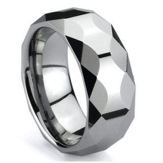 NEW 8MM MENS TUNGSTEN CARBIDE WEDDING BAND SHINY RINGS SIZE 11