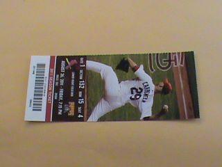26 2011 Cardinals vs Pirates Full Ticket   Yadier Molina Lance