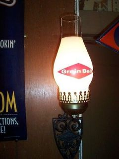 Vintage Grain Belt Beer Lighted Sconce Glass,Sign !!