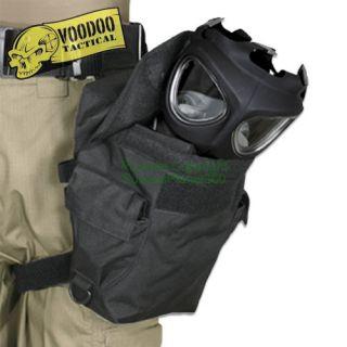Deluxe Drop Leg Gas Mask Carrier   Black   Voodoo Tactical