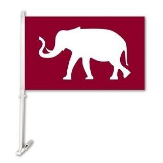Alabama Crimson Tide Elephant Car Flag
