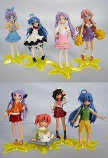 Lucky Star Miyuki Kagami Tsukasa Japan Anime Figures Lot of 8pc Figure