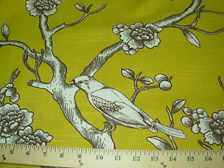 BTY~ROBERT ALLEN~MODERN RETRO BIRDS~COTTON UPHOLSTERY FABRIC~FABRIC
