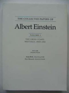 PAPERS OF ALBERT EINSTEIN VOLUME 3   Einstein, Albert & Beck, Anna