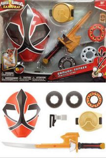 Power Rangers SAMURAI RANGER TRAINING Gear Mask Sword Disc ~NEW~