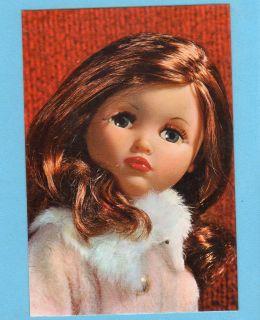 FURGA DOLL nice hair redhead Italy Alta Moda 1960s Viintage Postcard