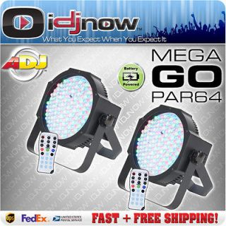 American DJ Mega Go Par 64 Slim LED RGB DMX Battery Wireless Profile